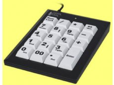 Large Key Keypad Black USB