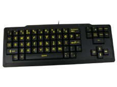 Startaboard Large Key Yellow Lower Case Legends Black Keyboard
