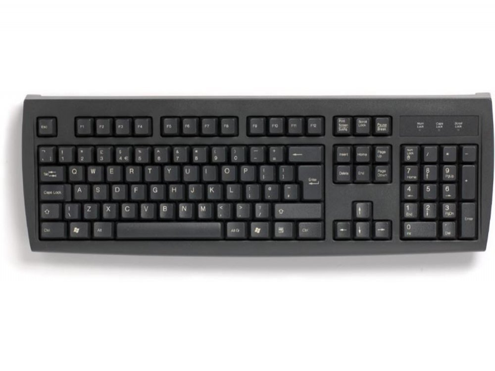 Black PS/2 keyboard, picture 1