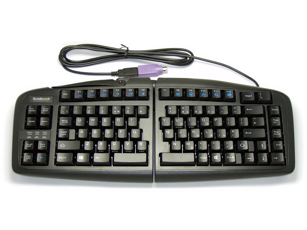 Black Goldtouch V2 Adjustable Comfort Keyboard