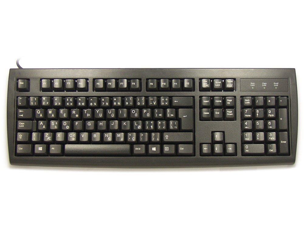 USA International keyboard, black, USB