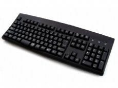 Japanese keyboard, black, USB and PS/2