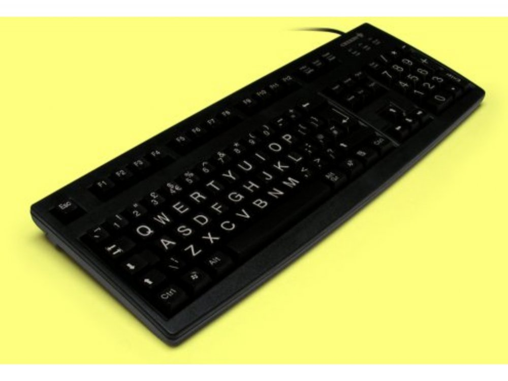 Large print, black, CHERRY keyboard, USB, picture 1