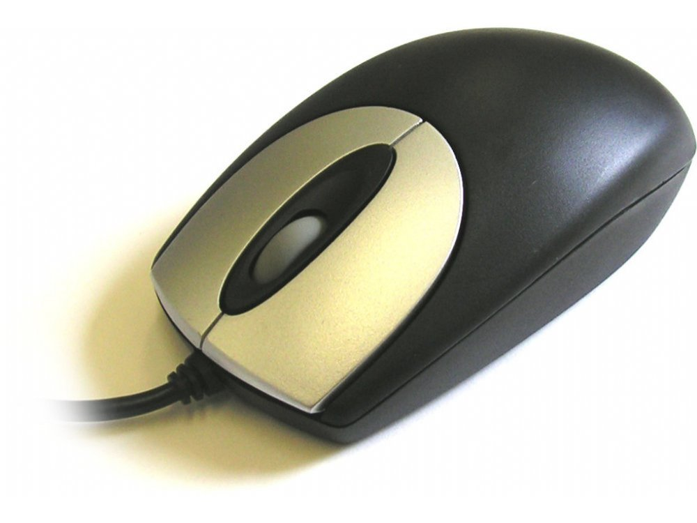 Black optical scroll mouse, picture 1