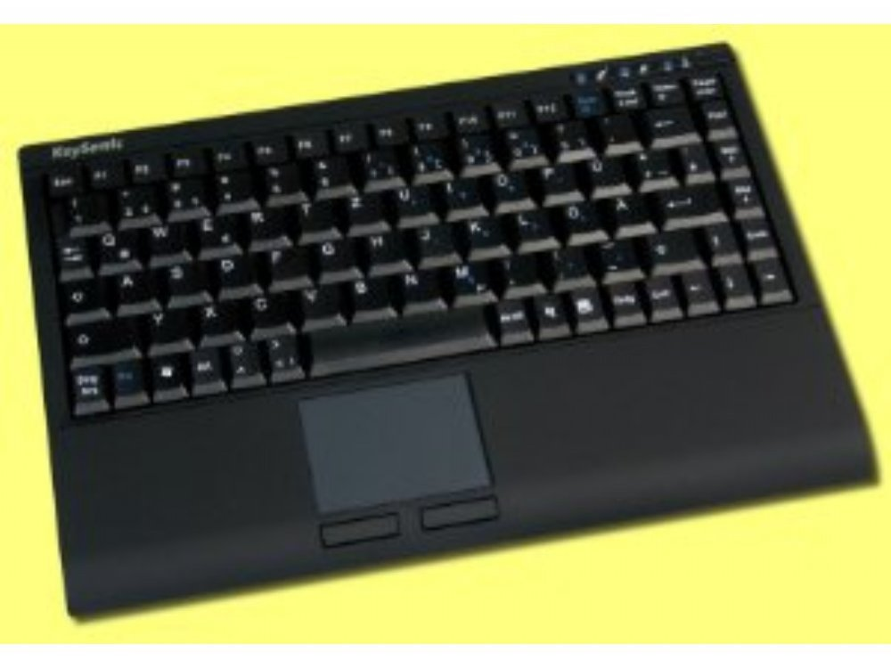 Mini wireless keyboard, with built in Touchpad, black, picture 1
