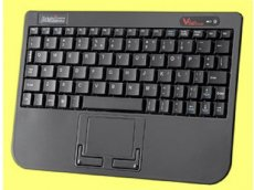Piano Black Wireless Super Mini Touchpad Keyboard