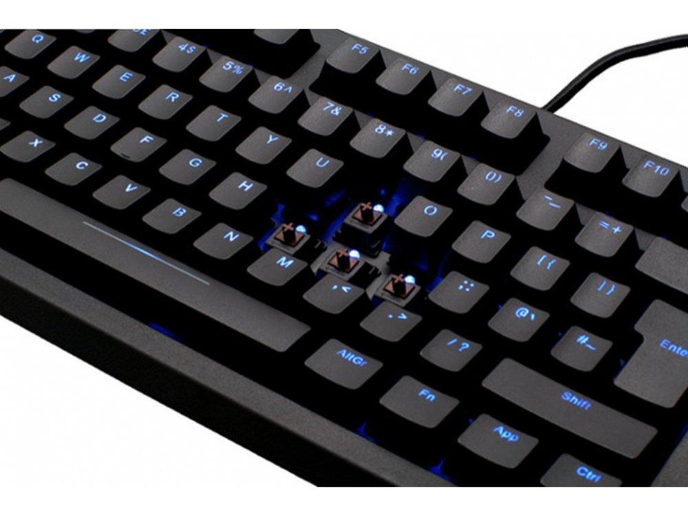 UK Max Blackbird Tenkeyless Backlit Mechanical Keyboard