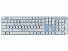 Blue Round Key Chiclet Style Quiet Keyboard
