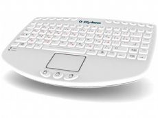 Medi-Key Wired Illuminated Medical Keyboard with Integrated Touchpad