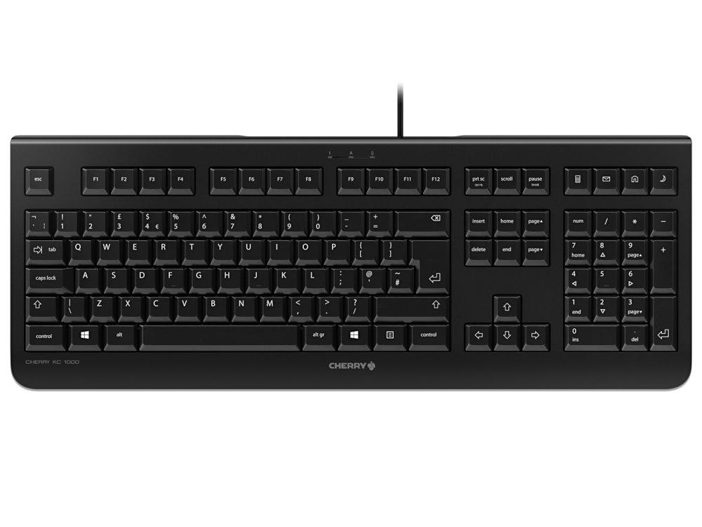CHERRY KC 1000 Professional Flat Office Keyboard Black
