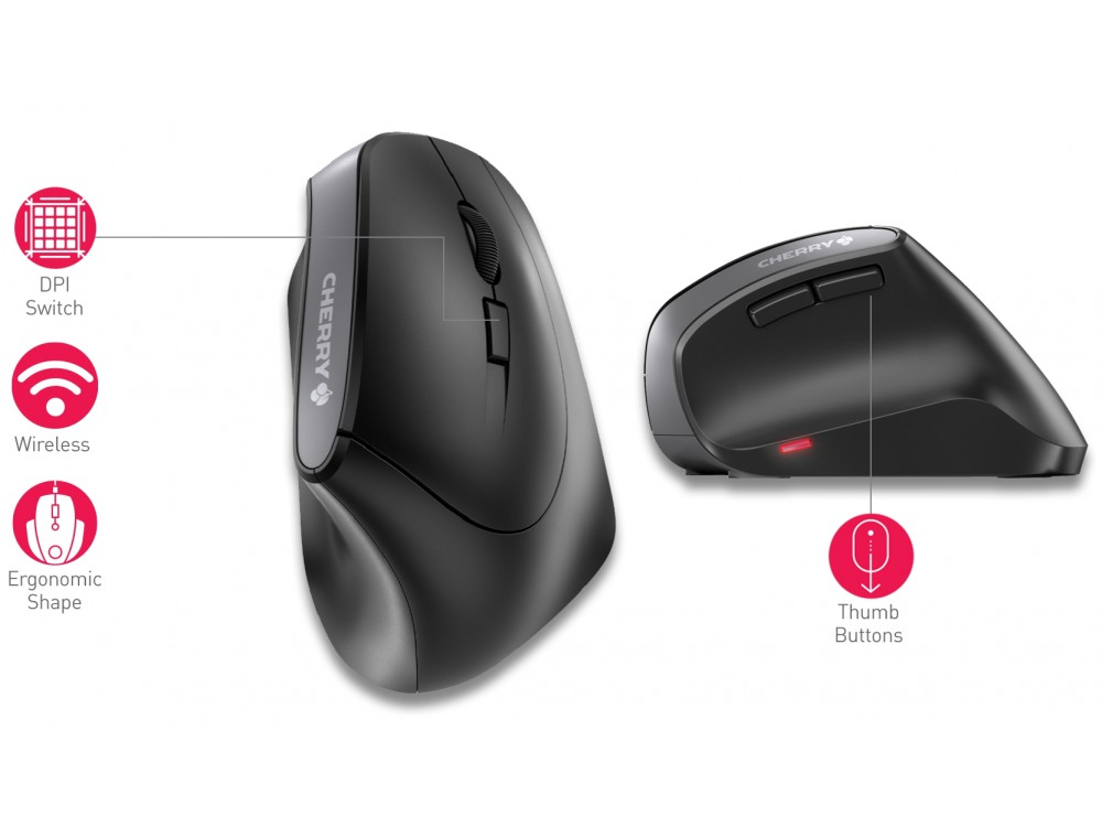 CHERRY Ergonomic Wireless Mouse MW 4500, picture 5