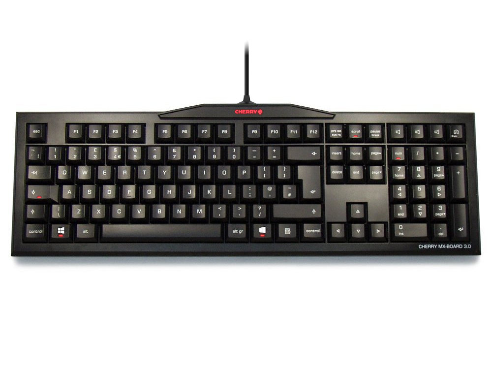UK CHERRY MX-Board 3.0 Pro Keyboard, Brown Switch NKR