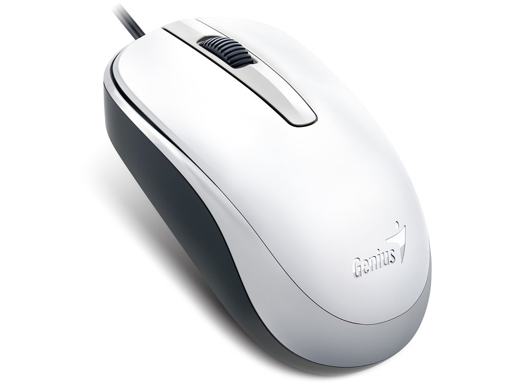 Classic White Optical Scroll Mouse USB