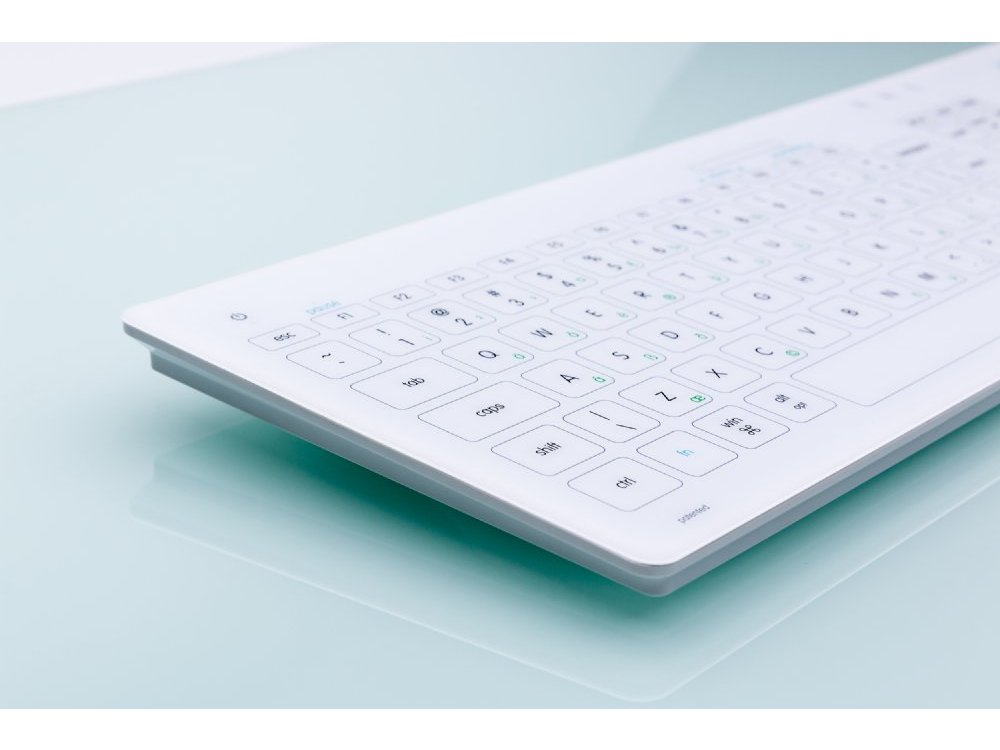 Cleankeys Glass Easy Clean Medical Keyboard