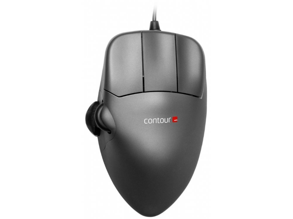 Contour Mouse, Grey Metal, Right Handed, Large