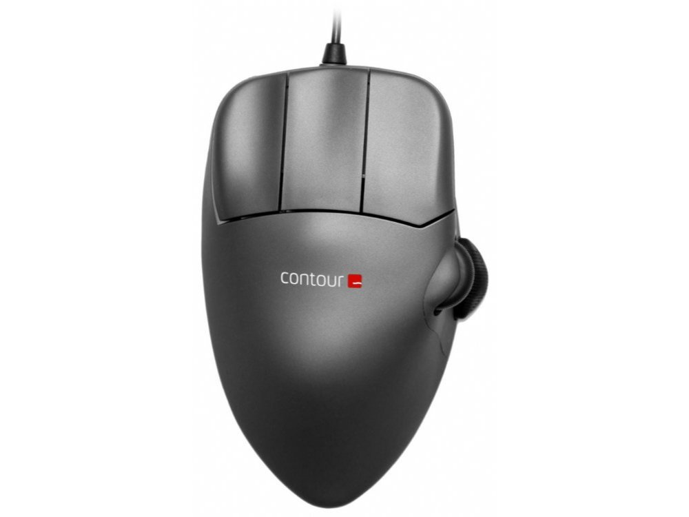 Contour Mouse, Grey Metal, Left Handed, Large