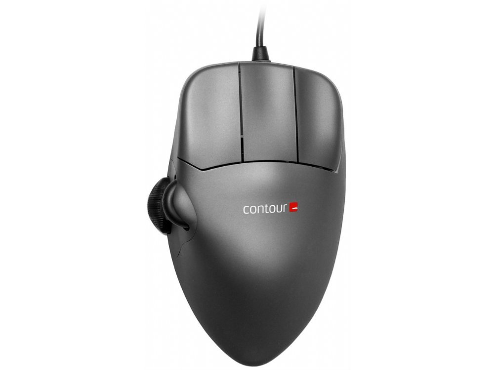 Contour Mouse, Grey Metal, Right Handed, Medium