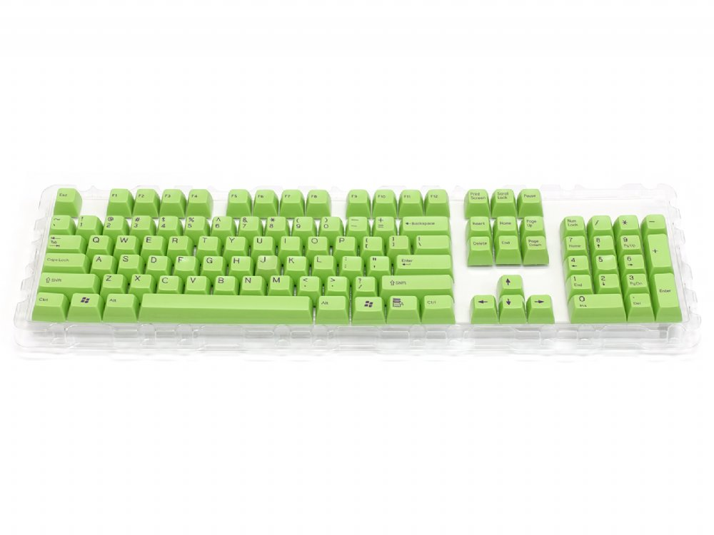 Double Shot Filco 104 Key USA Keyset, Green, picture 1