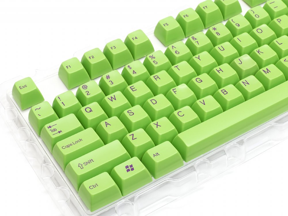 Double Shot Filco 104 Key USA Keyset, Green, picture 2