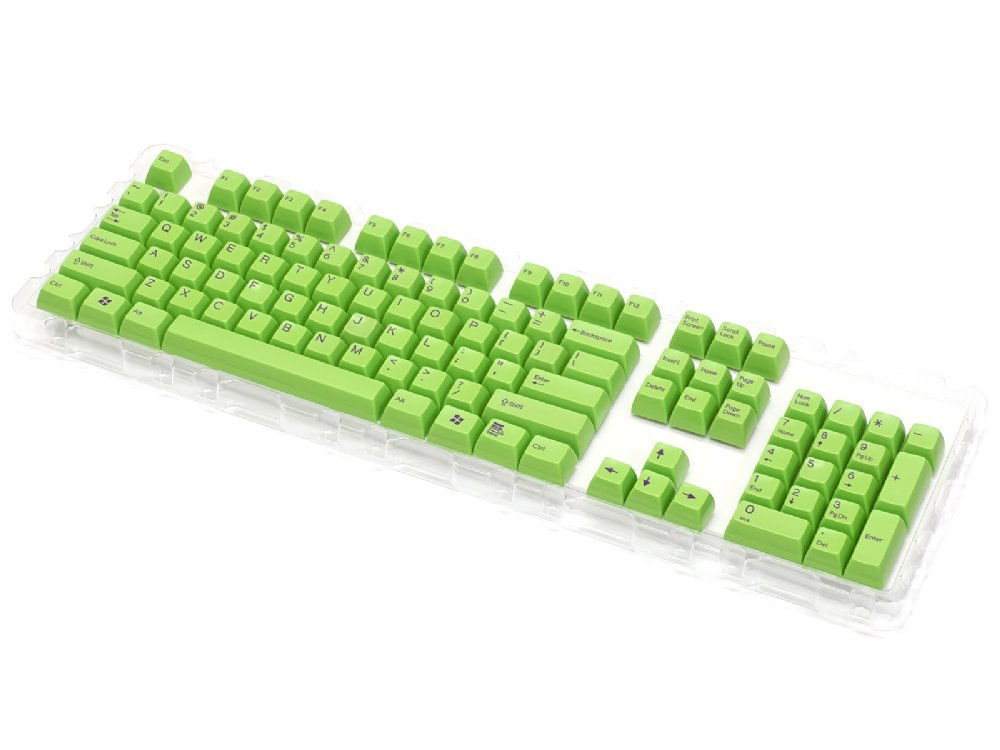 Double Shot Filco 104 Key USA Keyset, Green, picture 3