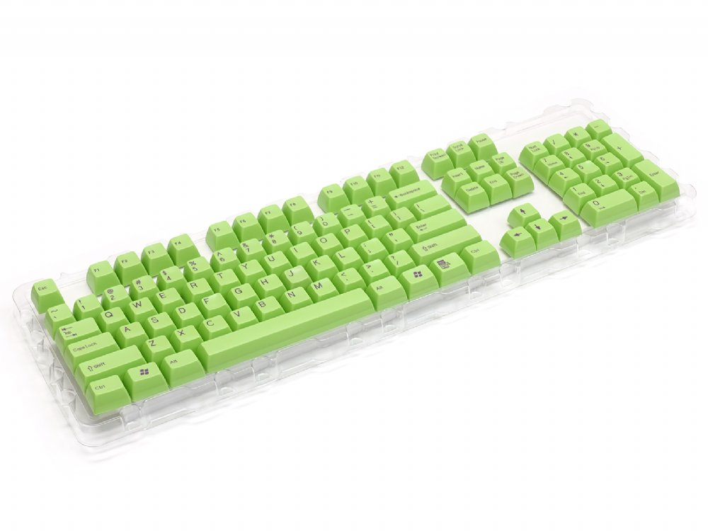 Double Shot Filco 104 Key USA Keyset, Green, picture 4
