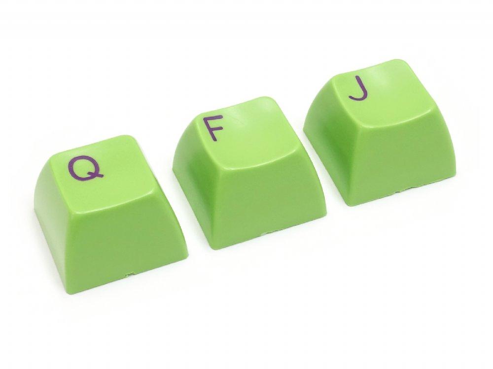 Double Shot Filco 104 Key USA Keyset, Green
