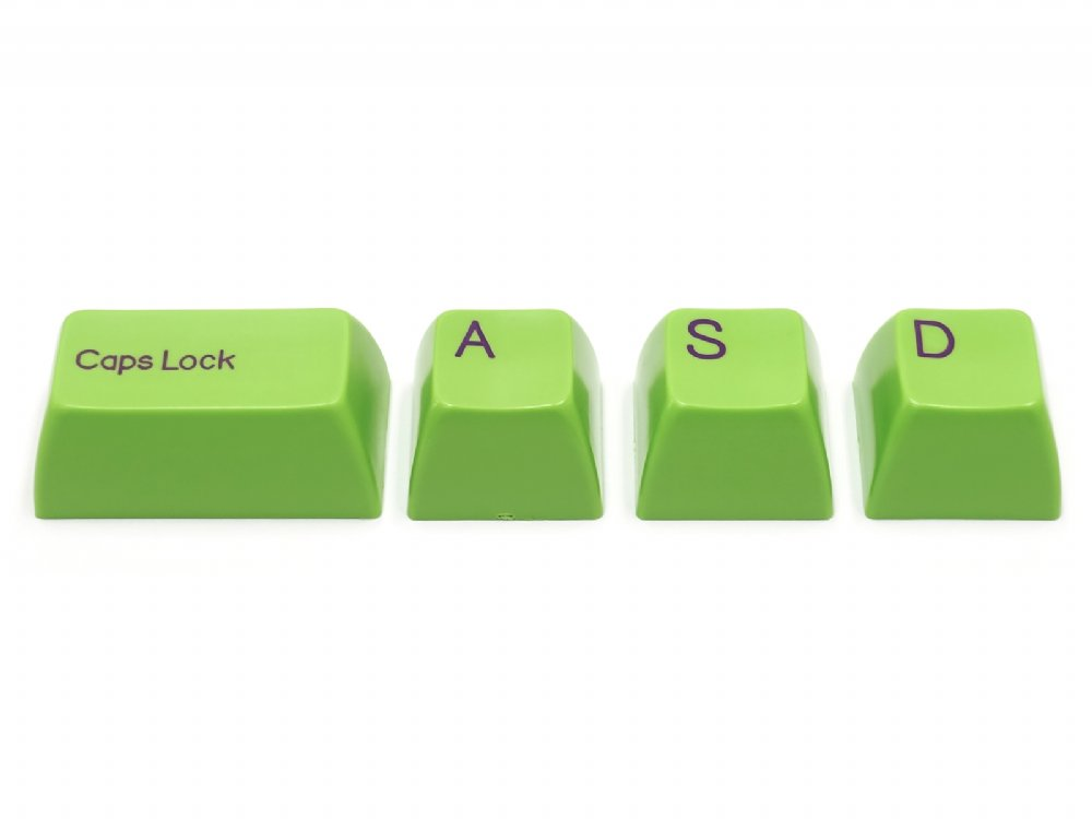 Double Shot Filco 104 Key USA Keyset, Green, picture 8