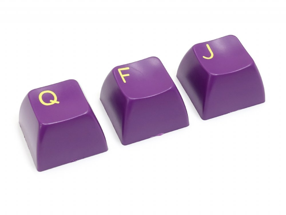 Double Shot Filco 104 Key USA Keyset, Green & Purple, picture 5
