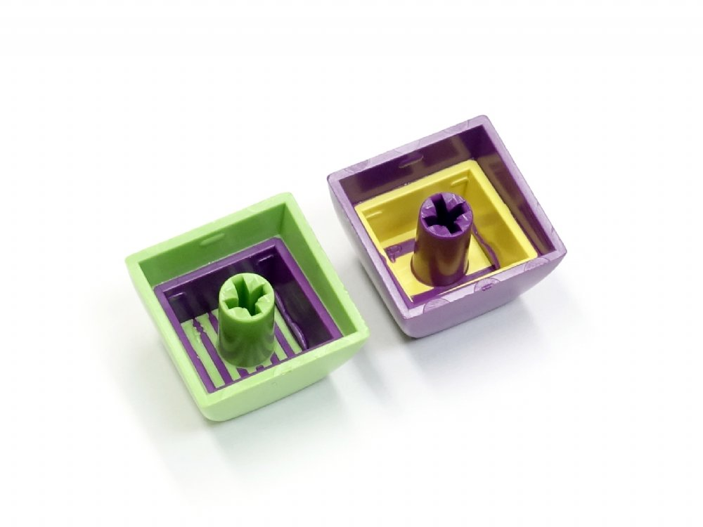 Double Shot Filco 104 Key USA Keyset, Green & Purple, picture 6