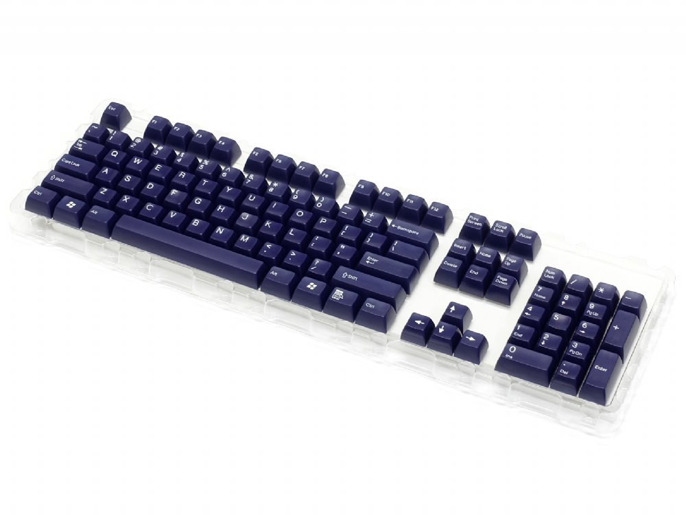 Double Shot Filco 104 Key USA Keyset, Navy Blue