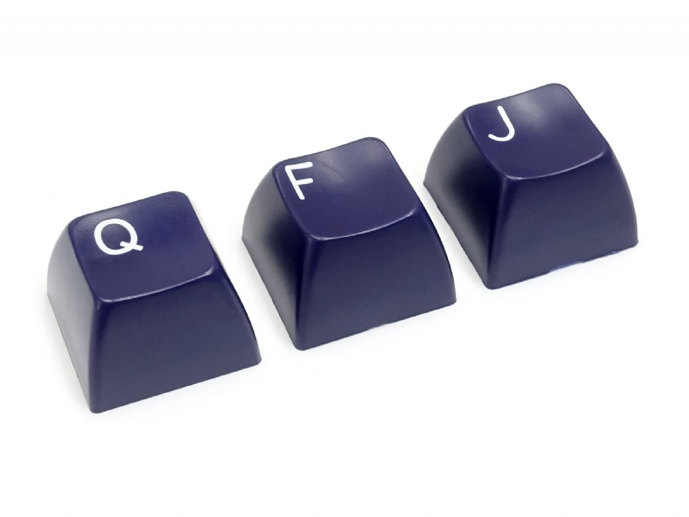 Double Shot Filco 104 Key USA Keyset, Navy Blue