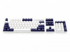 Double Shot Filco 104 Key USA Keyset, Navy Blue & White