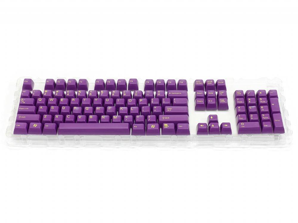 Double Shot Filco 104 Key USA Keyset, Purple
