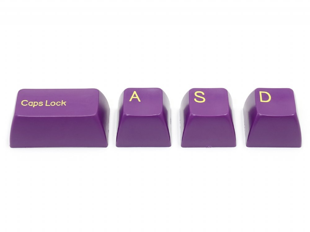 Double Shot Filco 104 Key USA Keyset, Purple