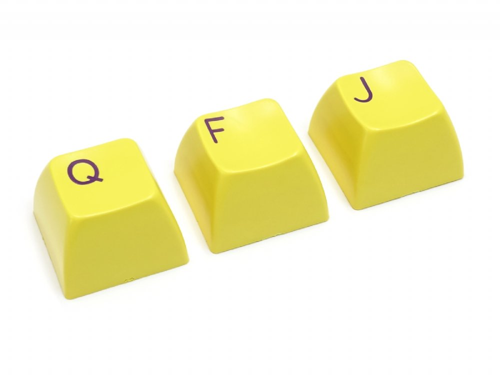 Double Shot Filco 104 Key USA Keyset, Yellow