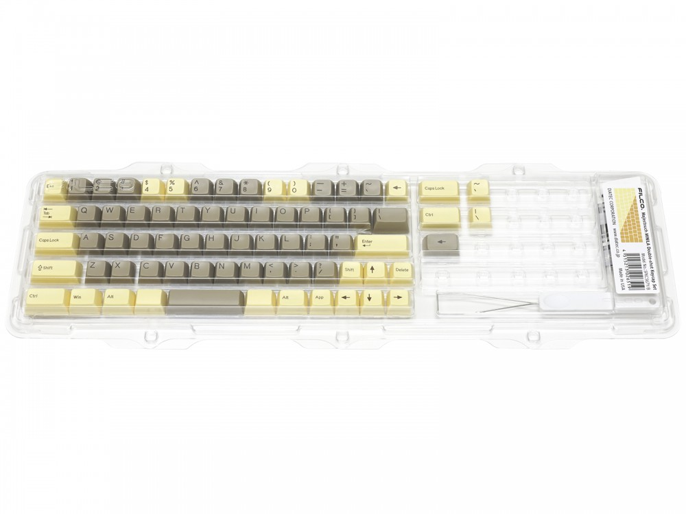 Double Shot Filco Minila USA Keyset, Custard & Chocolat