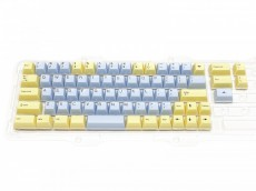 Double Shot Filco Minila USA Keyset, Custard & Ice