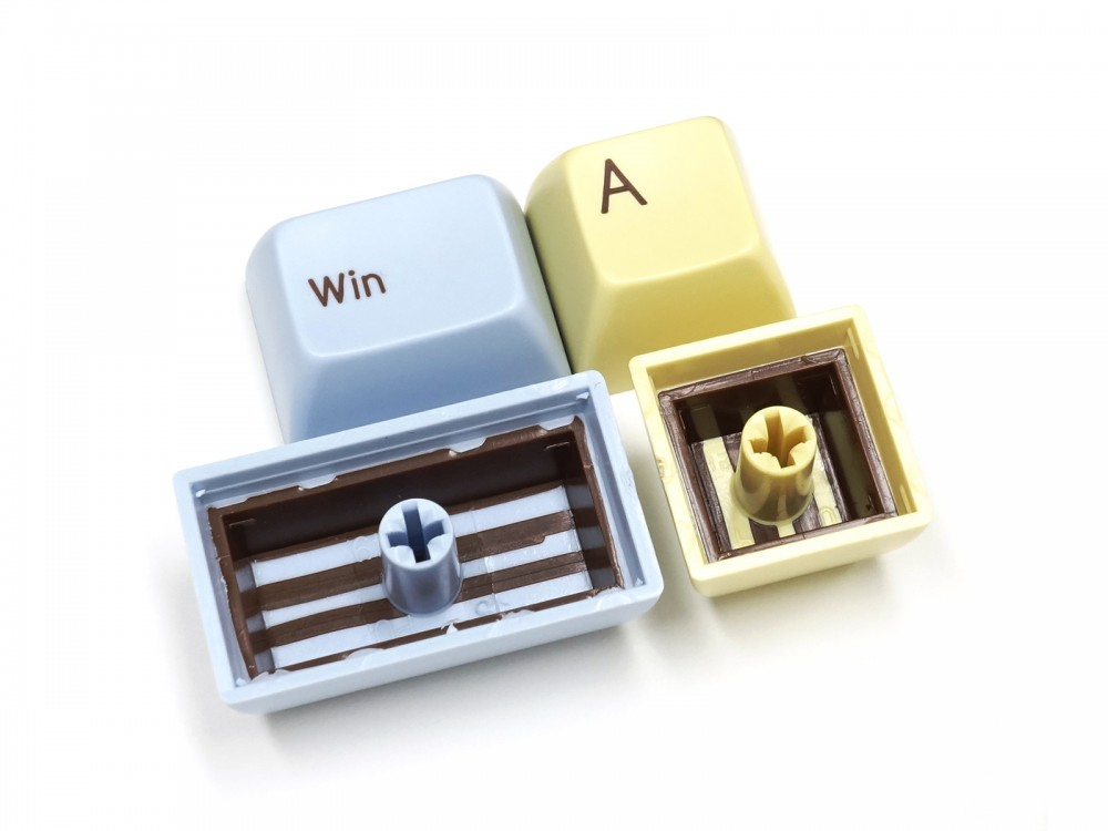 Double Shot Filco Minila USA Keyset, Ice & Custard