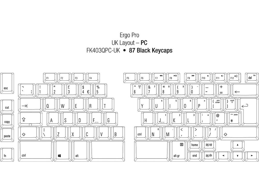 UK Ergo Pro Quiet PC Ergonomic Keyboard, picture 2