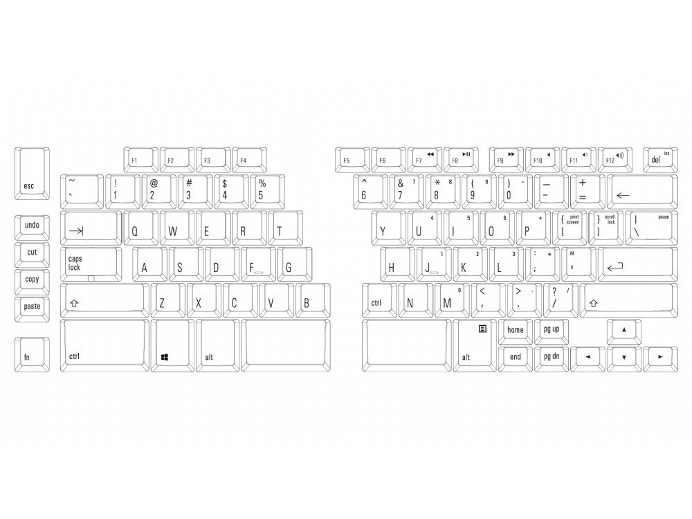 USA Ergo Pro Low Force PC Ergonomic Keyboard