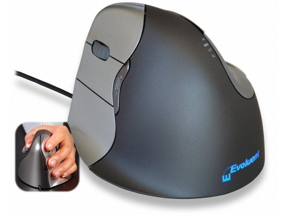 Evoluent VerticalMouse 4, Left Handed, Laser, USB