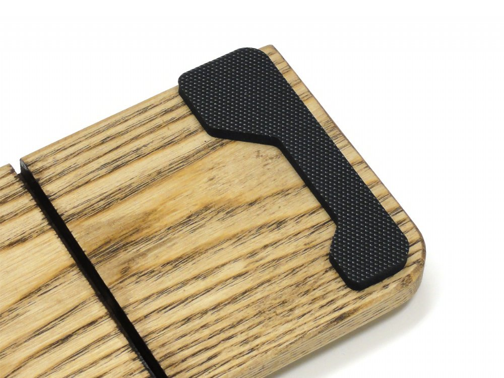 Filco Luxury Black Leather and Genuine Wood Palm Rest Large
