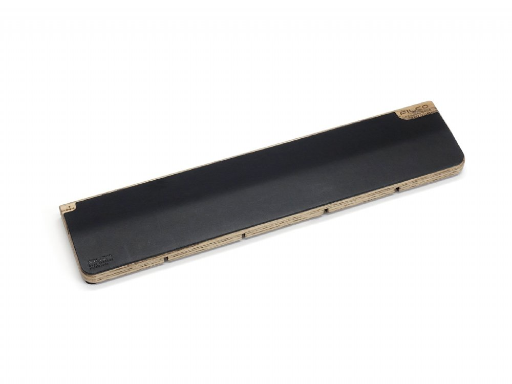 Filco Luxury Black Leather and Genuine Wood Palm Rest Medium