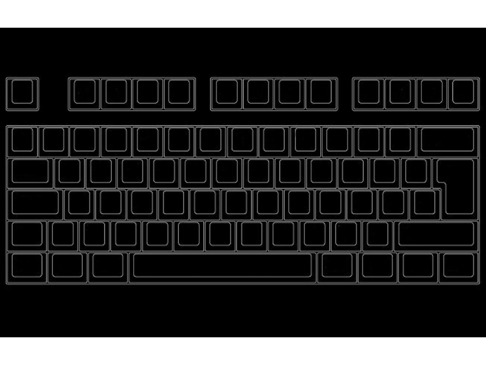 Blank 105 key Filco Majestouch, NKR, Tactile Action Keyboard
