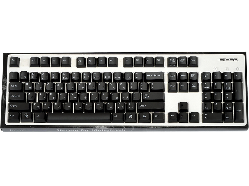 Chinese/USA Layout, Black Filco 104 Key Keyset, picture 1