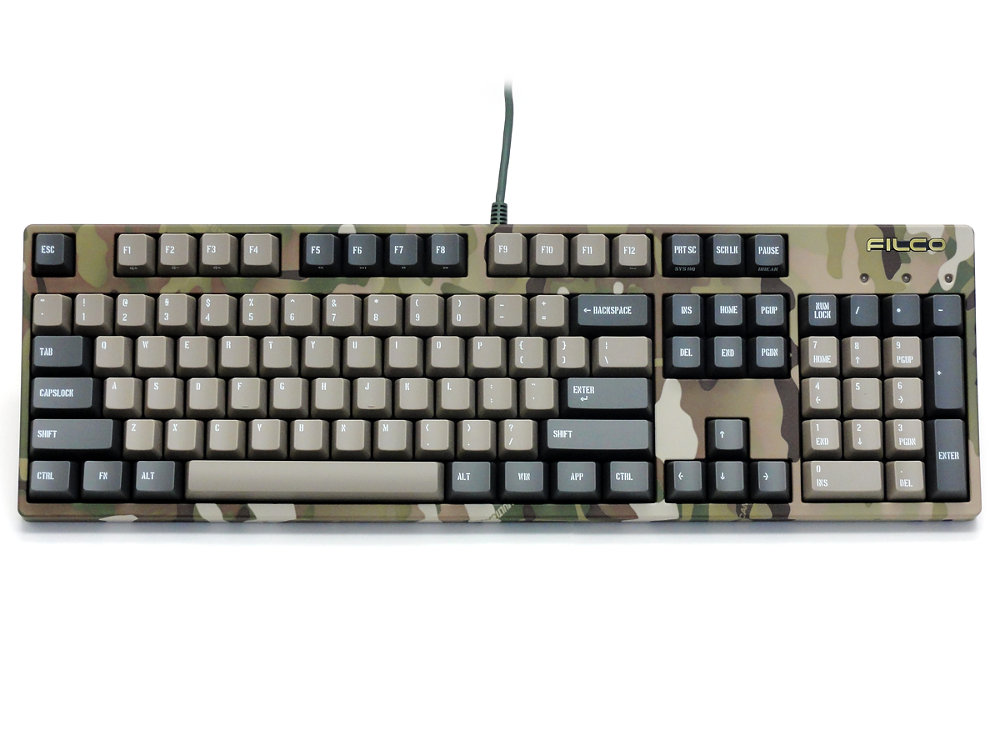 Filco Majestouch 2 Camouflage-R, NKR, Soft Linear Action, USA Keyboard