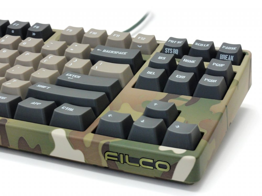 Filco Majestouch 2 Camouflage-R, Tenkeyless, MX Brown Tactile, USA Keyboard