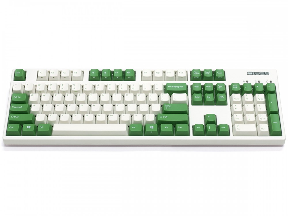 Filco Convertible 2 MX Red Linear USA ASCII Cream and Green Keyboard