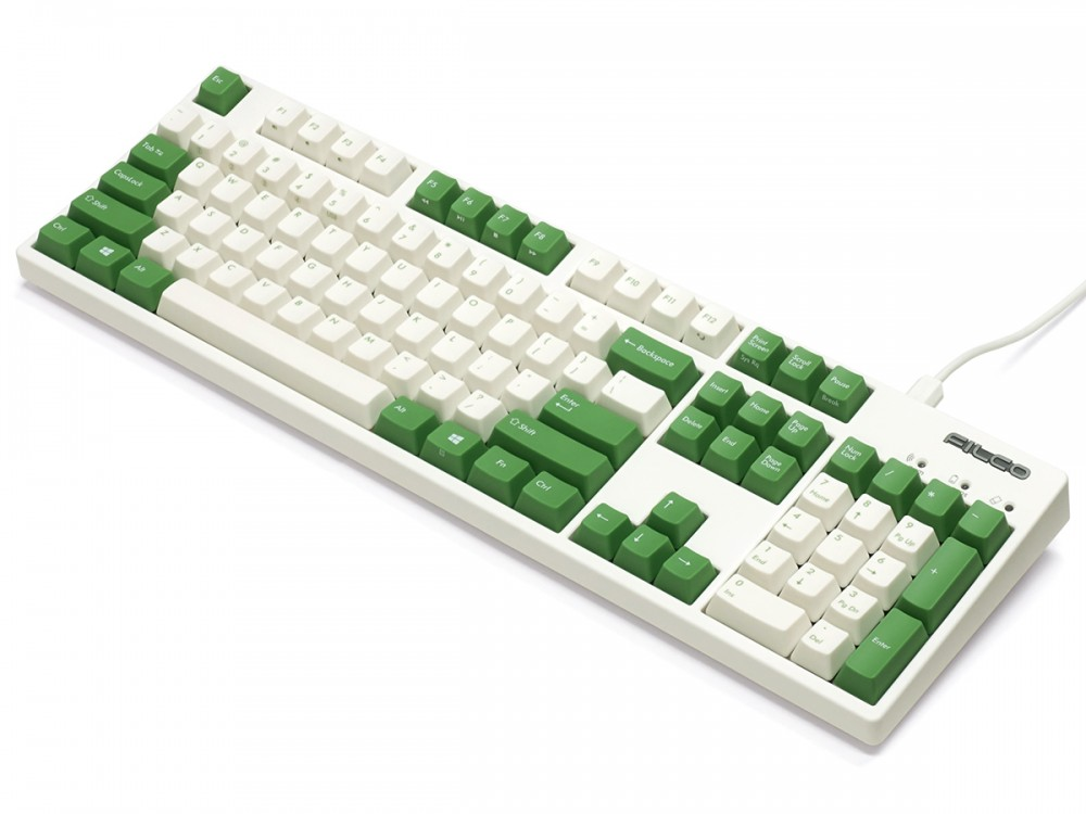 Filco Convertible 2 MX Red Linear USA ASCII Cream and Green Keyboard, picture 5