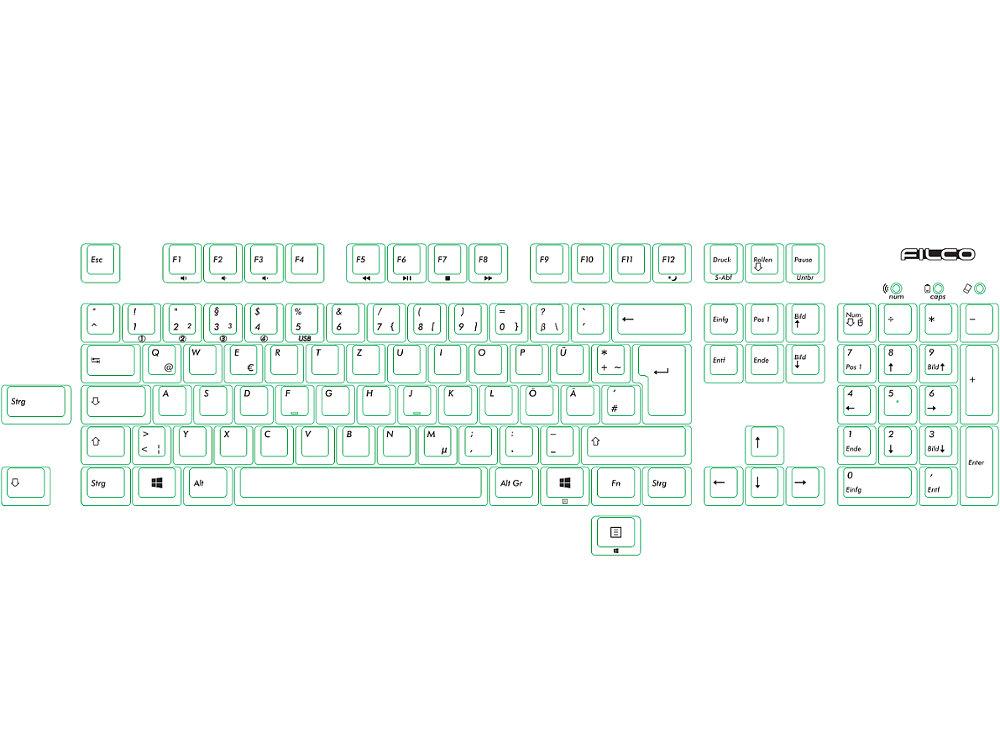 German Filco Convertible 2 Tactile Action Keyboard
